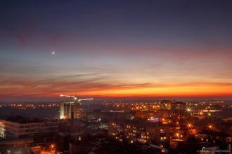Події міста  Полум'яний захід сонця (фотограф Юрій Костюк) фотолатерея