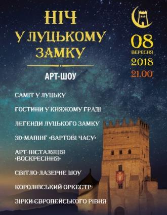 постер Ніч у Луцькому замку - 2018